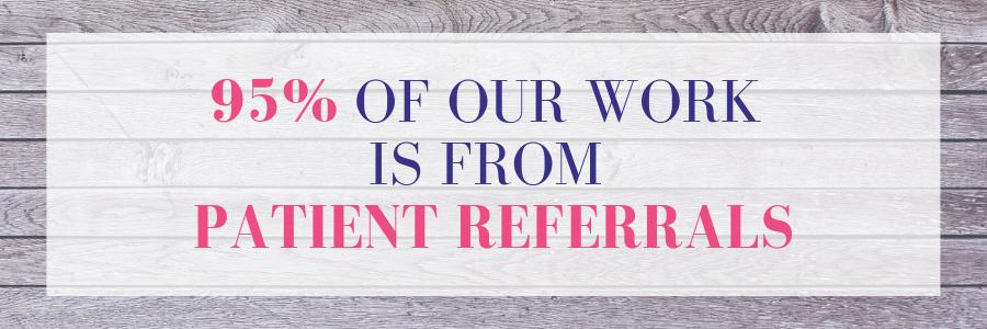 95% - PATIENT REFERRALS